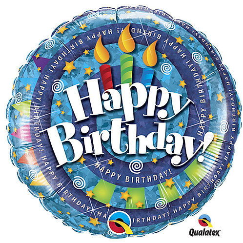 "Balloon Foil 18"" Happy Birthday Spiral"