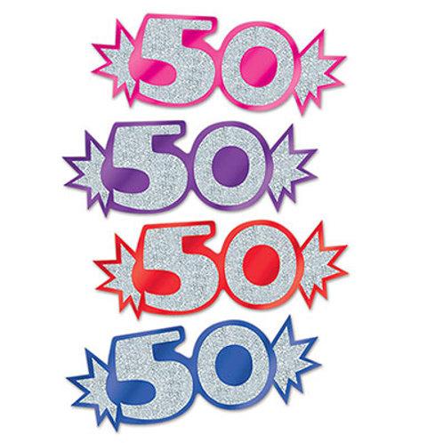 """50"" Mini Glittered Cutouts"
