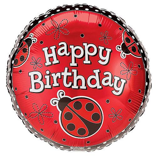"Balloon Foil 18"" Happy Birthday Lady Bug"