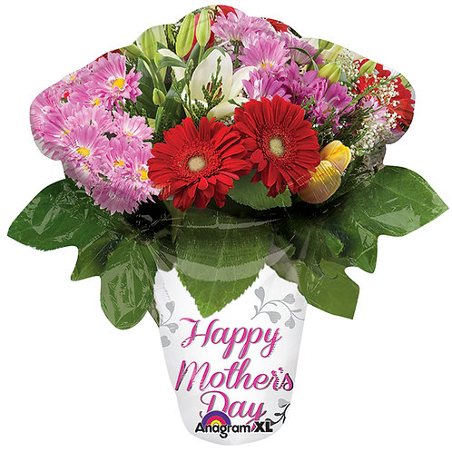 """Balloon Foil 27"""" Happy Mother's Day Vase"""