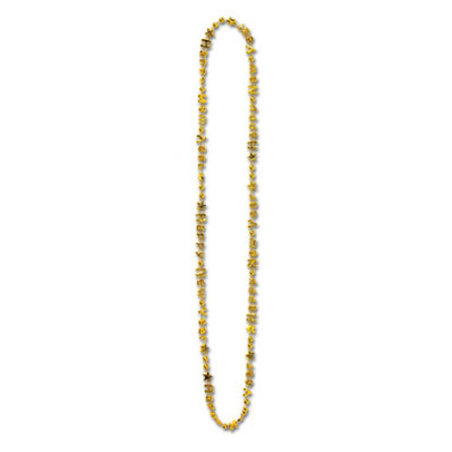 Gold Happy New Year Beads 12CT