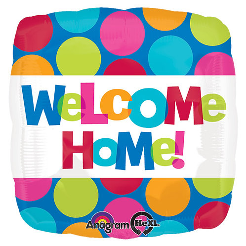 """Balloon 17"""" Welcome Home Square"""