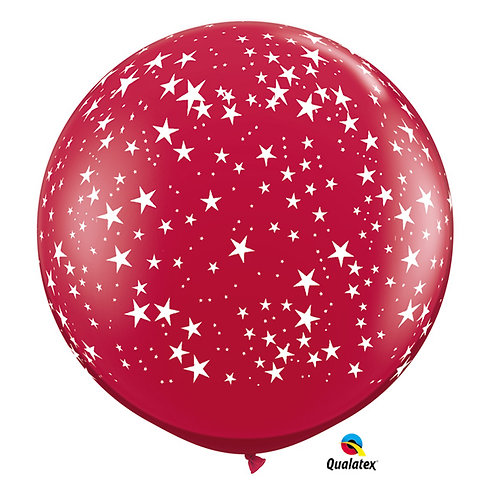 Balloon Latex Ruby Red Star 3'