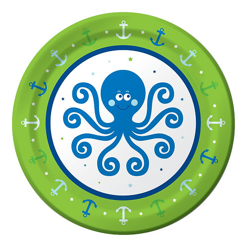 "Ocean Preppy 1st Birthday Luncheon Plate 7"" (8ct)"