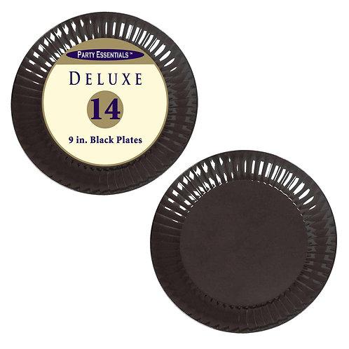 "Deluxe Plates Luncheon 9"" - Black 14Ct"