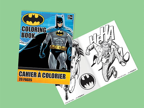 Batman  Coloring Book  6Ct