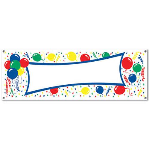 Balloon Blank Sign Banner
