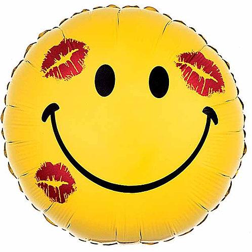 "Balloon Foil 18"" Smiley Kiss"
