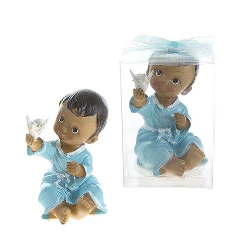 Favor Toddler Holding Dove Blue