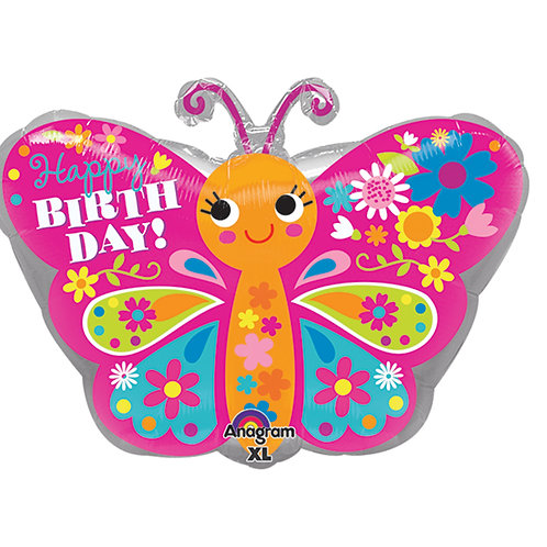 """Balloon Foil 18"""" Cute Butterfly"""