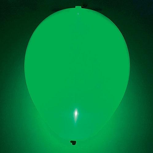 "Balloon 11"" Led Lite Green 1 Ct"