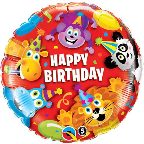 "Balloon Foil 18"" Birthday Animal"