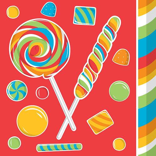 Sugar Buzz Luncheon Napkin (16Ct) Plain