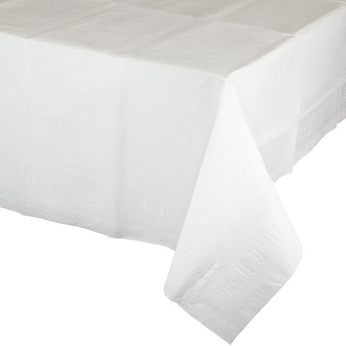 """White  Tablecover Lined 54""""X108"""""""
