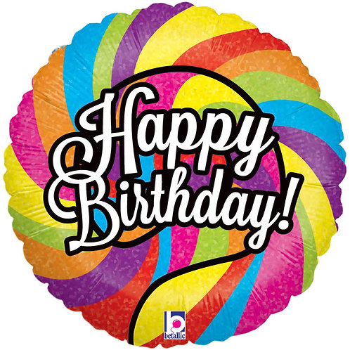 "Balloon Foil 18"" Happy Birthday Lollipop"