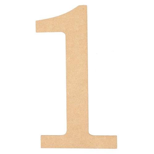 "Wooden 10"" Number '1'"