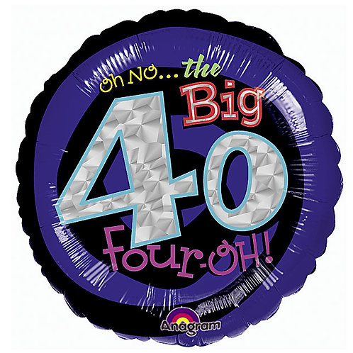 "Balloon Foil 18"" The Big 40Th"