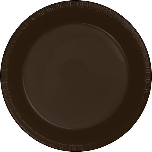 Chocolate Brown Plate 10 Inch