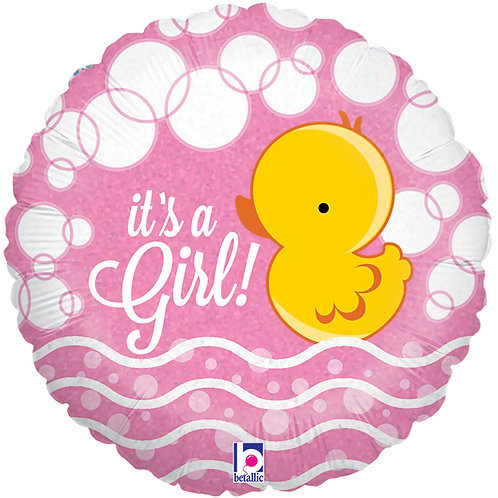 "Balloon Foil 18"" Ducky It's a Girl"