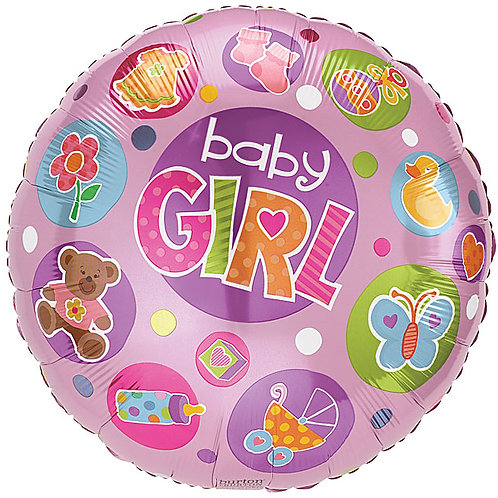 """Balloon Foil 18"""" Baby Girl Pink"""