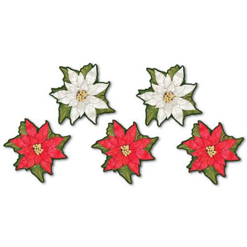 Christmas Cutout Mini Poinsettia 10ct