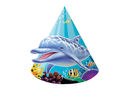 Ocean Party Hat, Child Size (8Ct)