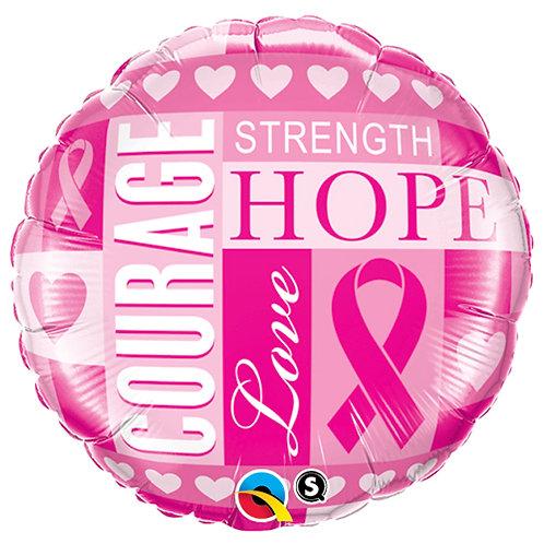 """Balloon Foil 18"""" Pink Ribbon"""