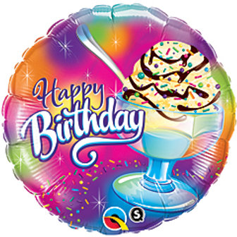 "Balloon Foil 18"" Happy Birthday Ice-cream"