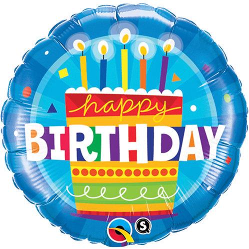 "Balloon Foil 18"" Happy Birthday Cake"