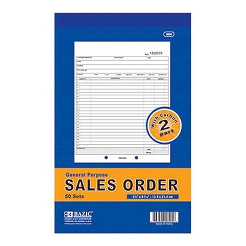 Sales Order Booklet 50 Pages