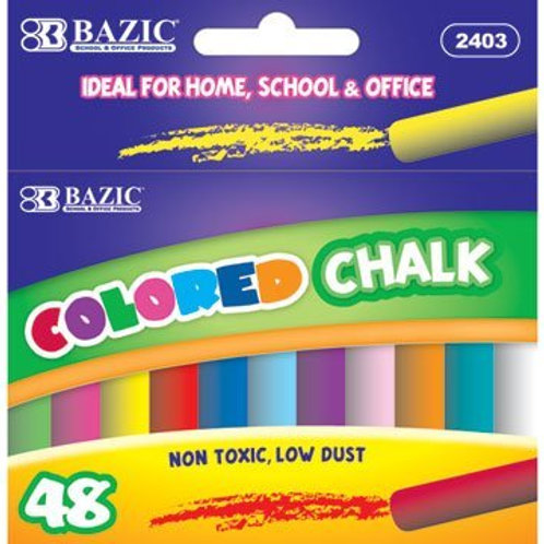Assorted Color Chalk (48/Box)