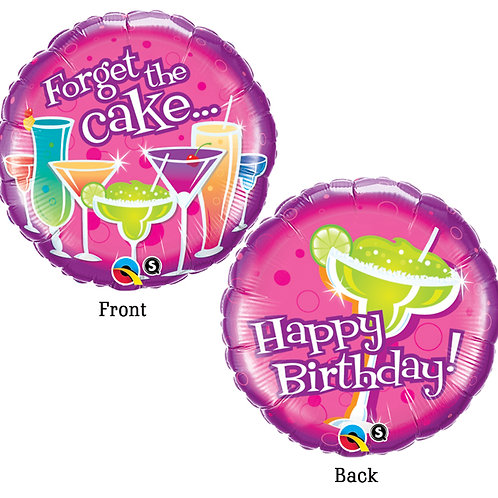 """Balloon Foil 18"""" Forget The Cake"""