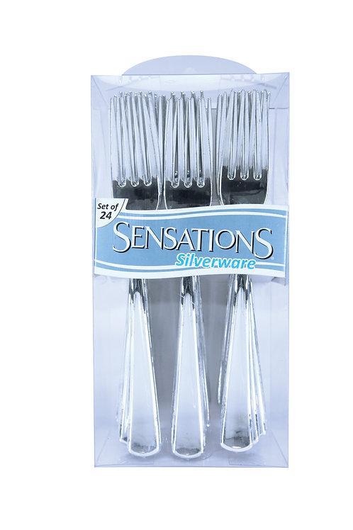 Forks Metallic Silver