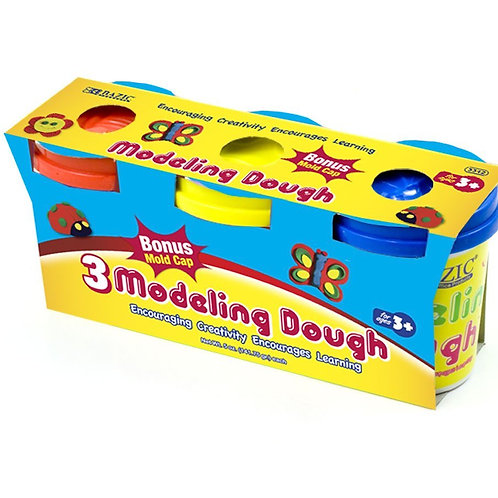 5 oz. Multicolor Modeling Dough (3/Pack)