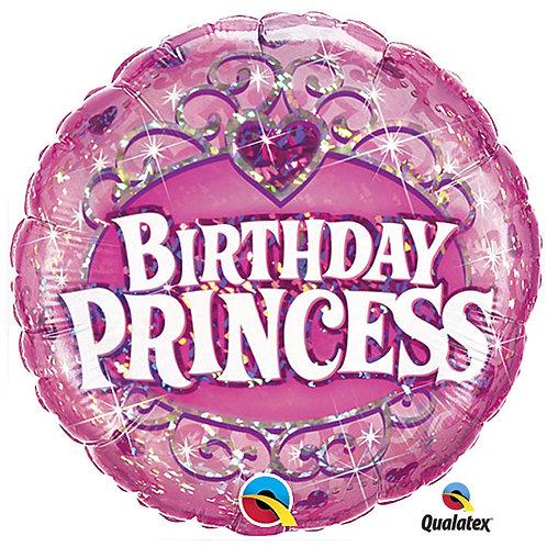 "Balloon Foil 18"" Happy Birthday Princess"