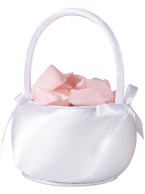Wedding Basket Satin White