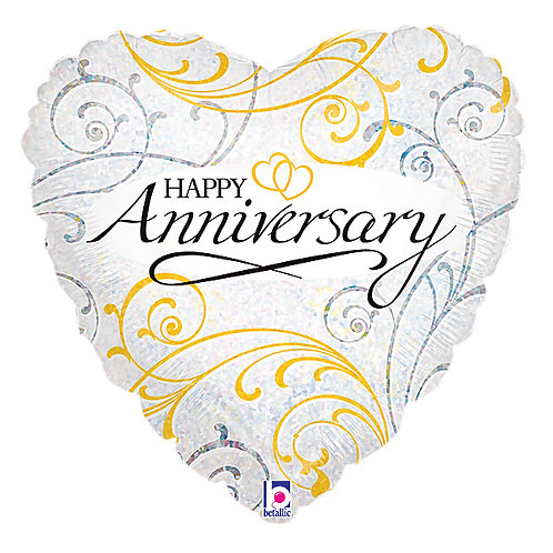 "Balloon Foil 18"" Anniversary Heart"