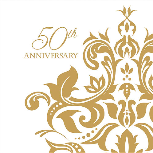 50th Anniversary Beverage Napkin (36ct)