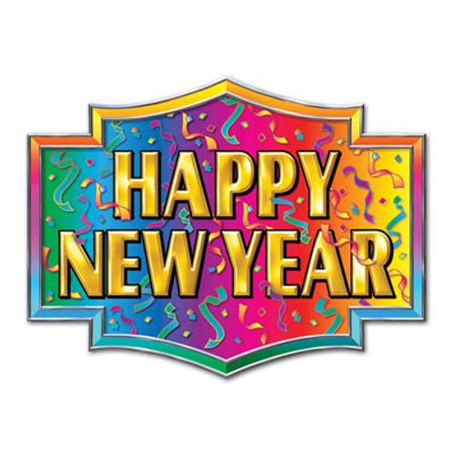 Happy New Year Plaque Cutout