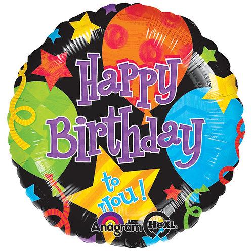 """Balloon Foil 18"""" Happy Birthday Jubilee"""