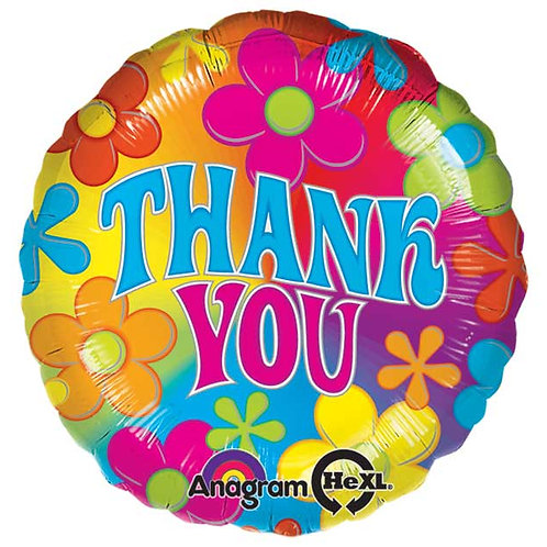 "Balloon Foil 18"" Thank You Flower"