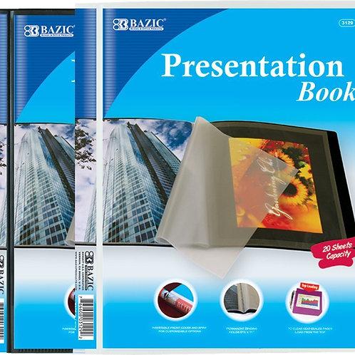 10 Pockets Presentation Book