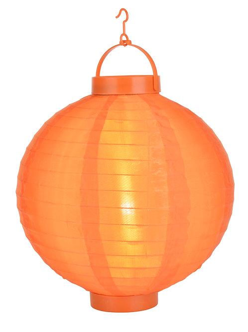"""Lantern Nylon 14"""" Led Round Orange"""