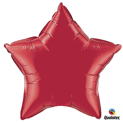 "Balloon Foil 9"" Star Red"