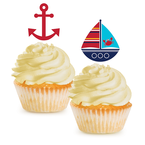 Ahoy Matey Cupcake Toppers 12 ct