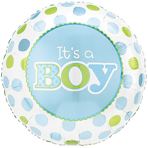 "Balloon Foil 18"" Its A Boy Blue"