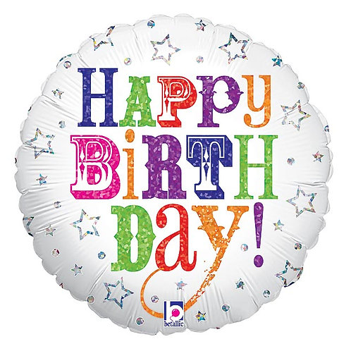 "Balloon Foil 18"" Happy Birthday"