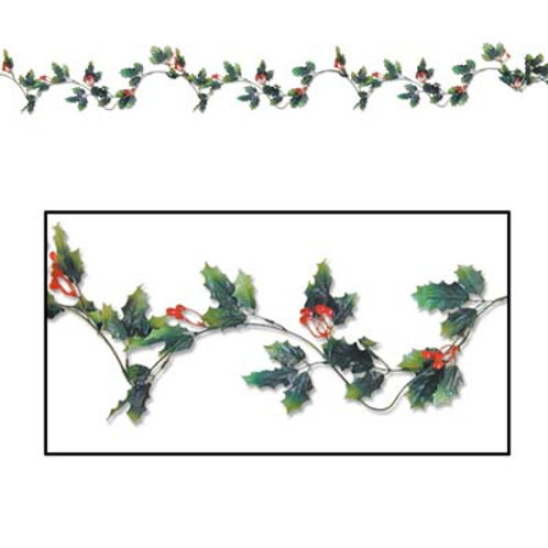 Christmas Garland Holly & Berry 6'