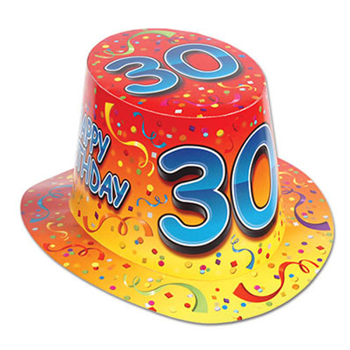 30th Birthday Hat Top
