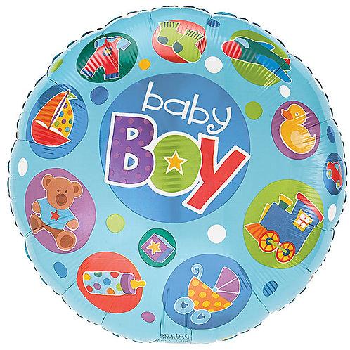 "Balloon Foil 18"" Baby Boy"